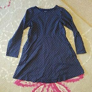 Lands End Star Print Cotton Dress